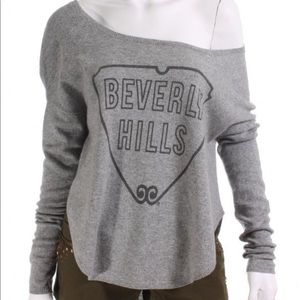 Sweaters - Kitson grey cashmere sweater off shoulder
